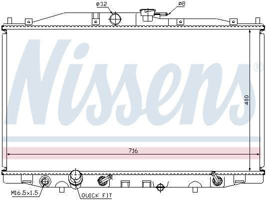 NISSENS 68112 RADIATOR ENGINE COOLING