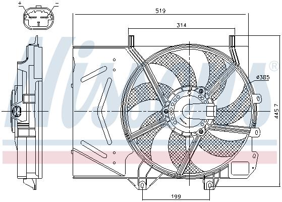 Kale Ventilateur de Radiateur Refroidissement Moteur 1253Q0 Peugeot 207 Cc 207