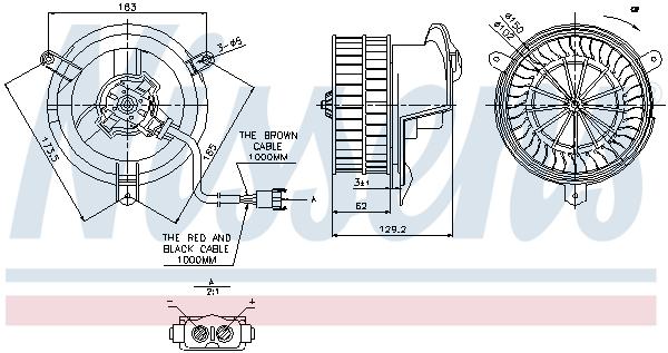 Nissens Intérieur Ventilateur 87035 pour MERCEDES-BENZ