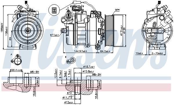 Nissens 77503 Calefacci/ón para Autom/óviles