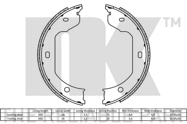 Borg /& Beck BBS6333 Brake Shoes and Accessories