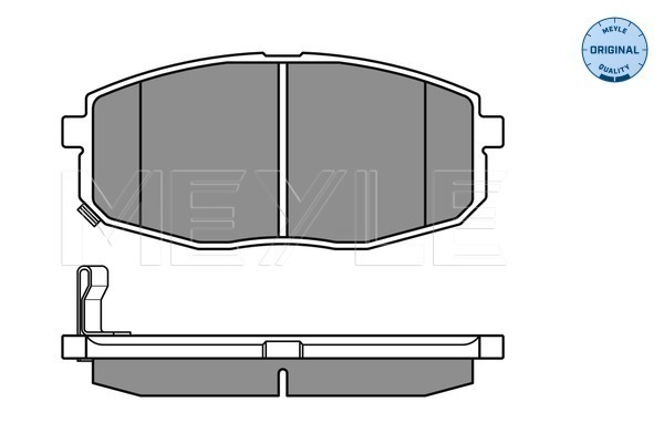 MEYLE 025 239 6617//W BRAKE PAD SET DISC BRAKE Front