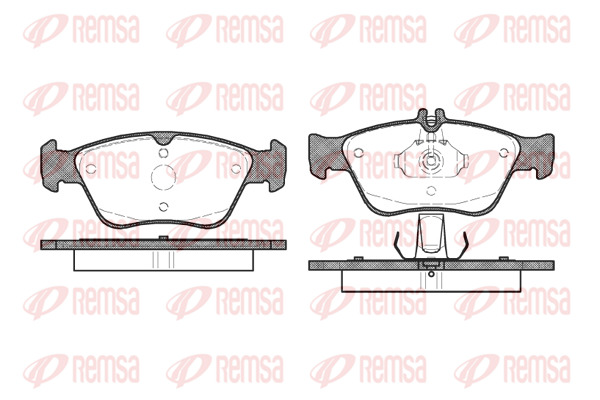 SWAG Disc Brake Pad Set Front Axle Fits MERCEDES W210 W202 S210 0024209620