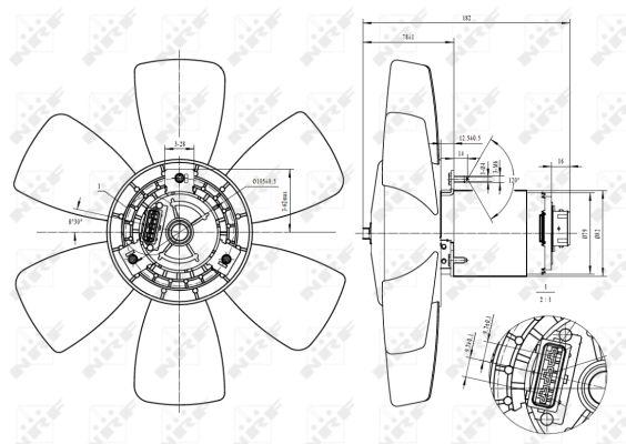 Ventilador motor refrigeración nrf 47429
