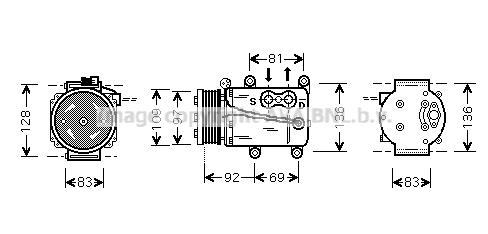 Bilde av Ac Kompressor Ava Quality Cooling Fdak171