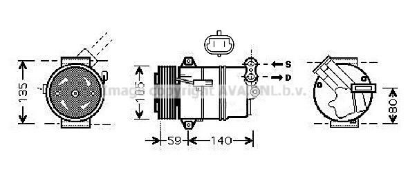 Bilde av Ac Kompressor Ava Quality Cooling Olak437
