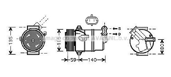 Bilde av Ac Kompressor Ava Quality Cooling Olak446