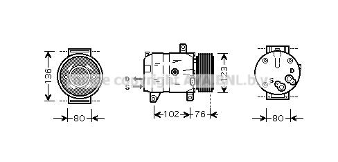 Bilde av Ac Kompressor Ava Quality Cooling Rtak069
