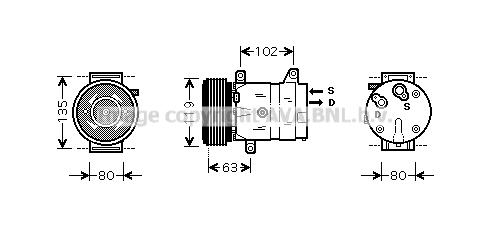 Bilde av Ac Kompressor Ava Quality Cooling Rtak440