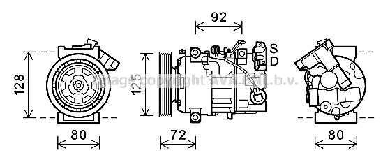 Bilde av Ac Kompressor Ava Quality Cooling Rtak489