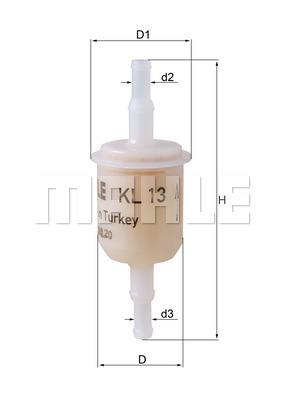 MAHLE Original KL 83 Fuel Filter