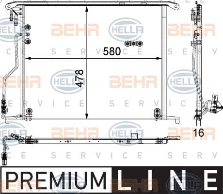 8fc 351 301-174 HELLA Condenser Air Conditioning