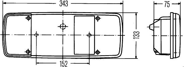 2VP 003 567-111 HELLA Combination Rearlight