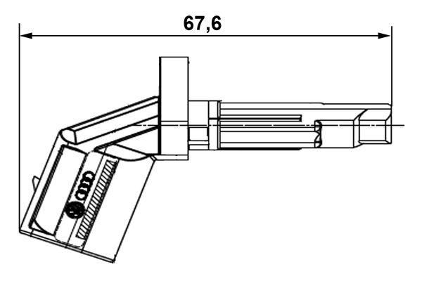ABS Capteur BOSCH 0 265 007 928 pour Audi Bentley Porsche Vw