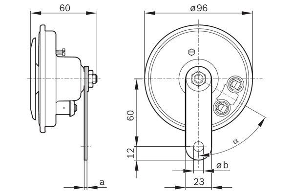 BOSCH Horn 0986320111 für PEUGEOT RENAULT VW