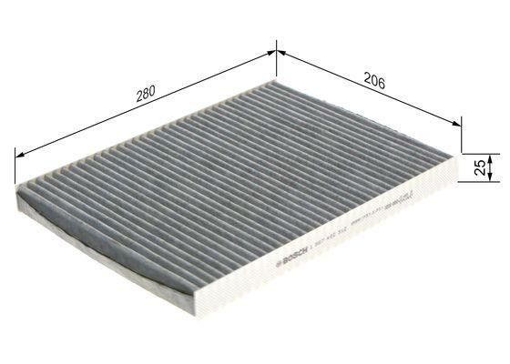 Bosch 1 987 432 312 Filtre Air De LHabitacle