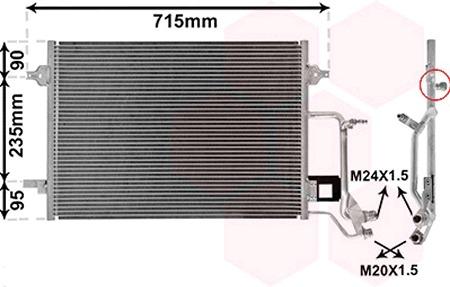 Condensador aire acondicionado-Nissens 94207