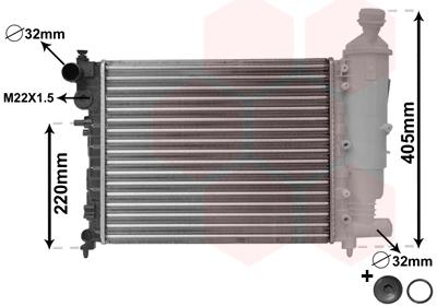 TYC Radiator For CITROEN PEUGEOT Saxo 106 I 1301TA