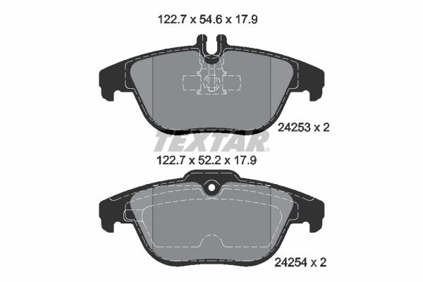 MDB2845 Rear Brake Pads Fits Teves System Prepared For Wear Indicator By Mintex
