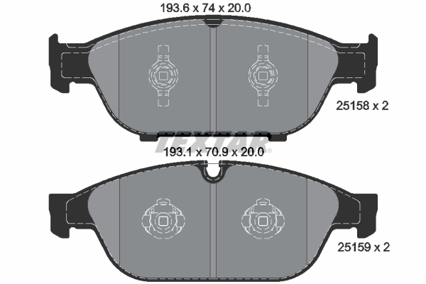 Brake Pads Set BBP2276 Borg /& Beck 4G0698151G 4G0698151B 4H0698151D 4H0698151G