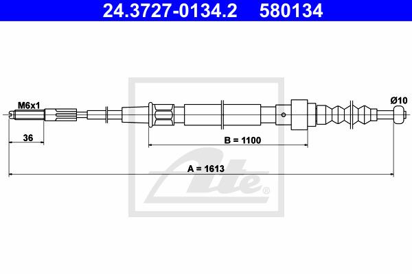 freno de estacionamiento Mapco 5773 Cable de accionamiento