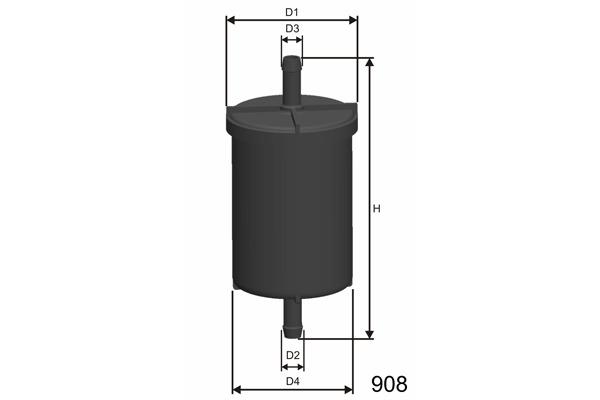 Bosch 0 450 905 908 Filtre Carburant
