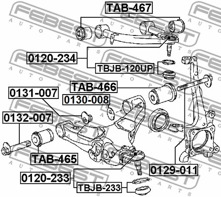 Front Upper Arm Febest # 0120-234 Ball Joint