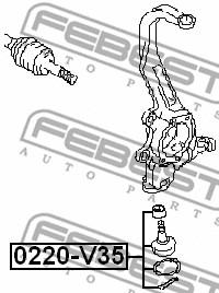 FEBEST 0220-V35 Ball Joint