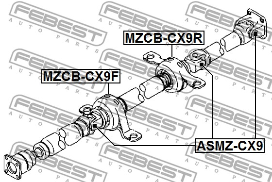 FEBEST ASMZ-CX9 Universal Joint