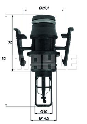Bilde av Sensor, Motortemperatur Behr Tse 3