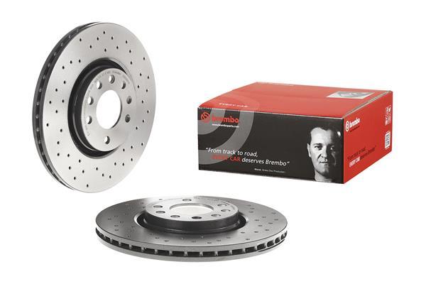 Brembo perforados Sport-discos de freno Zafira B pastillas de freno delantero Opel Astra H
