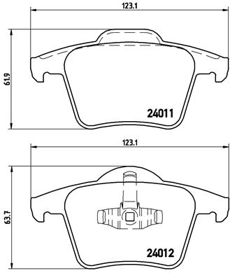MDB2613 Rear Brake Pads Fits Teves System Excl Wear Warning Contact By Mintex