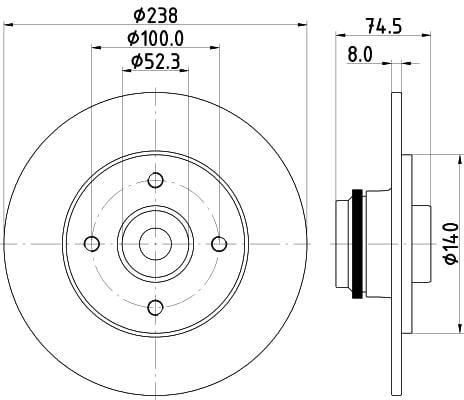 Mintex MDC2388 Rear Brake Discs x2 303mm Diameter 10mm Thickness Replacement