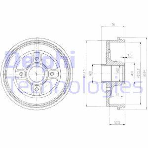 Delphi BF427 tambor de freno