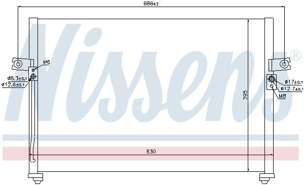 Condensador aire acondicionado-Nissens 94494