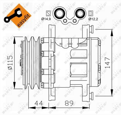 Compressor, air conditioning NRF 32207