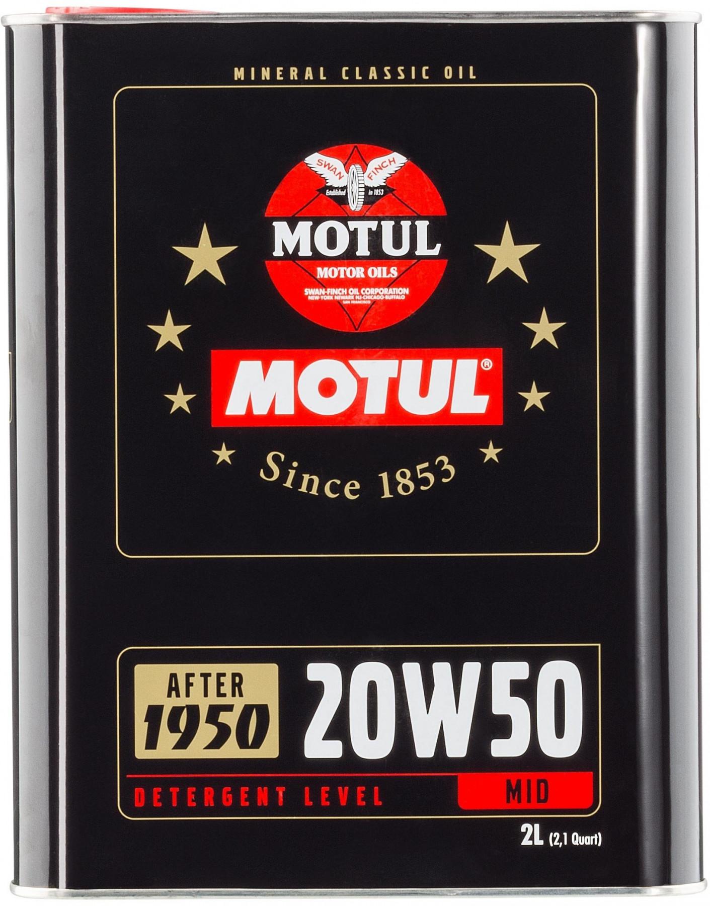 Engine Oil MOTUL CLASSIC OIL SAE 20W50
