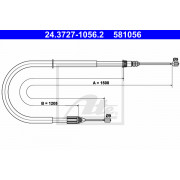 ABS K19867 Park Brake Cable