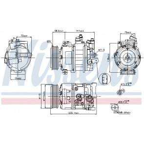 Nissens 89211 Compressor air conditioning