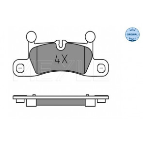 REAL IMAGE OF PART MINTEX REAR AXLE BRAKE PADS FOR PORSCHE VW MDB3076