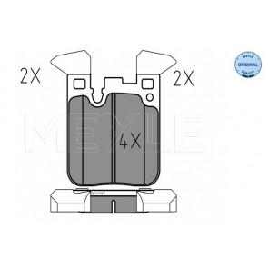 Mintex MDB3269 Rear Brake Pads Fits Brembo System Prepared For Wear Indicator