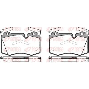 Ferodo FDB4358 Low Steel Disc Brake Pad Set