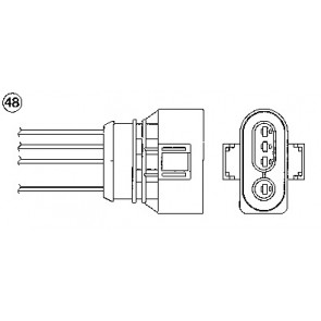 Walker Products 250-24417 Oxygen Sensor
