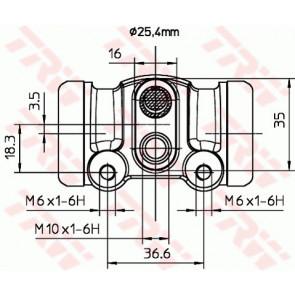 ABS 72920X Wheel Brake Cylinder