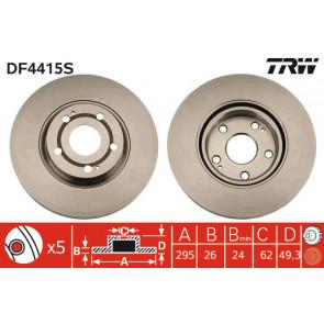 TRW DF4415S BRAKE DISC SINGLE Front