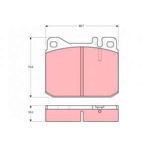 FEBI 16220 Brake Pad Set disc brake Front Axle