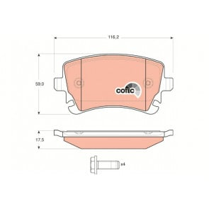 Borg /& Beck BBP1929 Front Brake Pads TRW