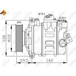 air conditioning NRF 32147 Compressor