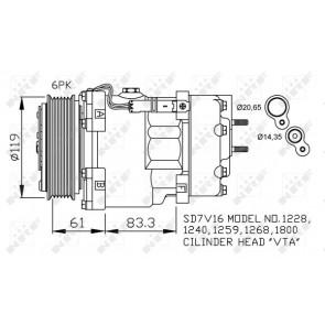 Nissens 89032 Sistemas de Aire Acondicionado