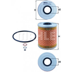 Engine Oil Filter Mahle OX 187D